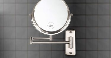 ALHAKIN Wall Mounted Makeup Mirror Review- 10x Magnification