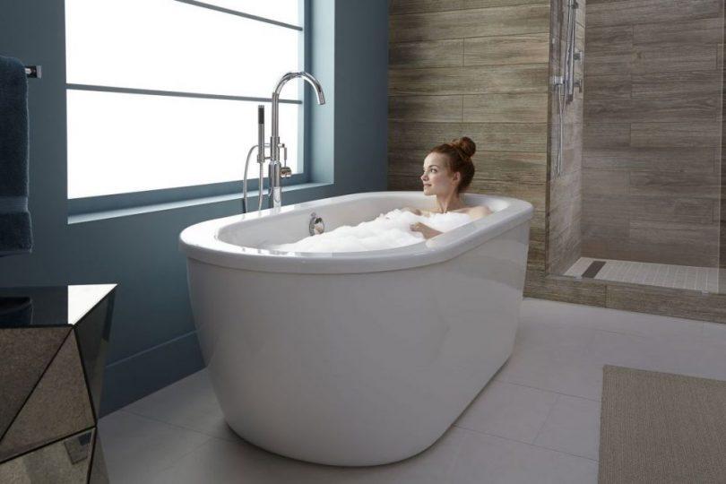 installing freestanding tub