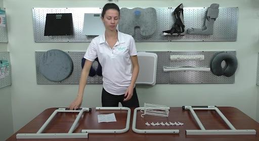Freestanding toilet rails