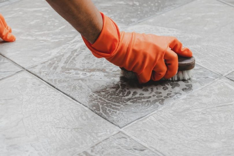 shower floor cleaning tips