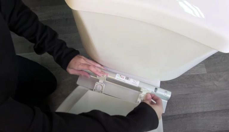 How to install toilet safety rails: Step 4