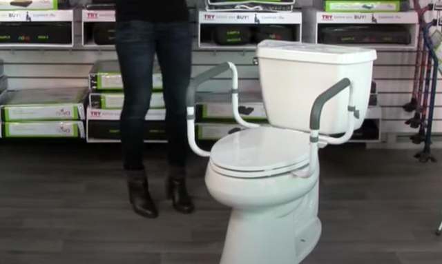 How to install toilet safety rails: Step 7