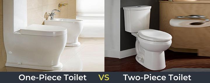 one piece toilets vs two piece toilets