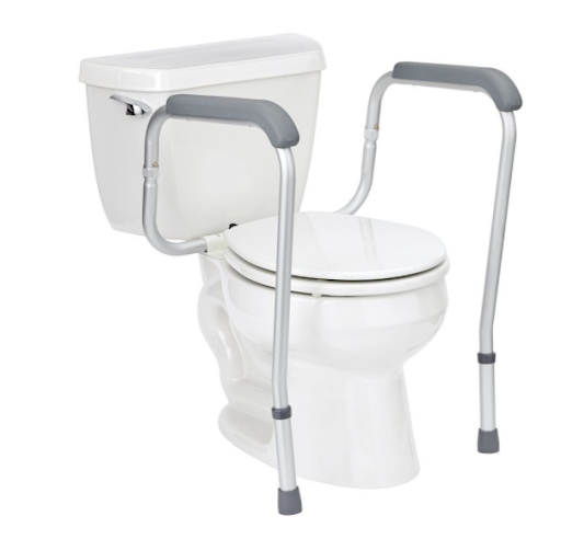 how to install toilet safety rails: Toilet rails with legs
