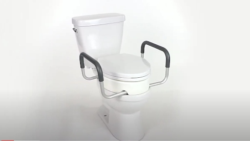 how to install toilet safety rails: Toilet riser with handles