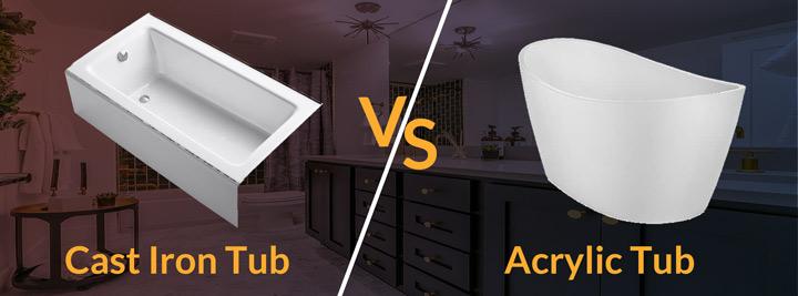 acrylic vs cast iron tub