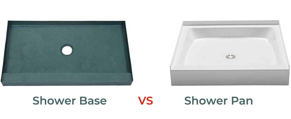 Difference between Shower Base vs Shower Pan